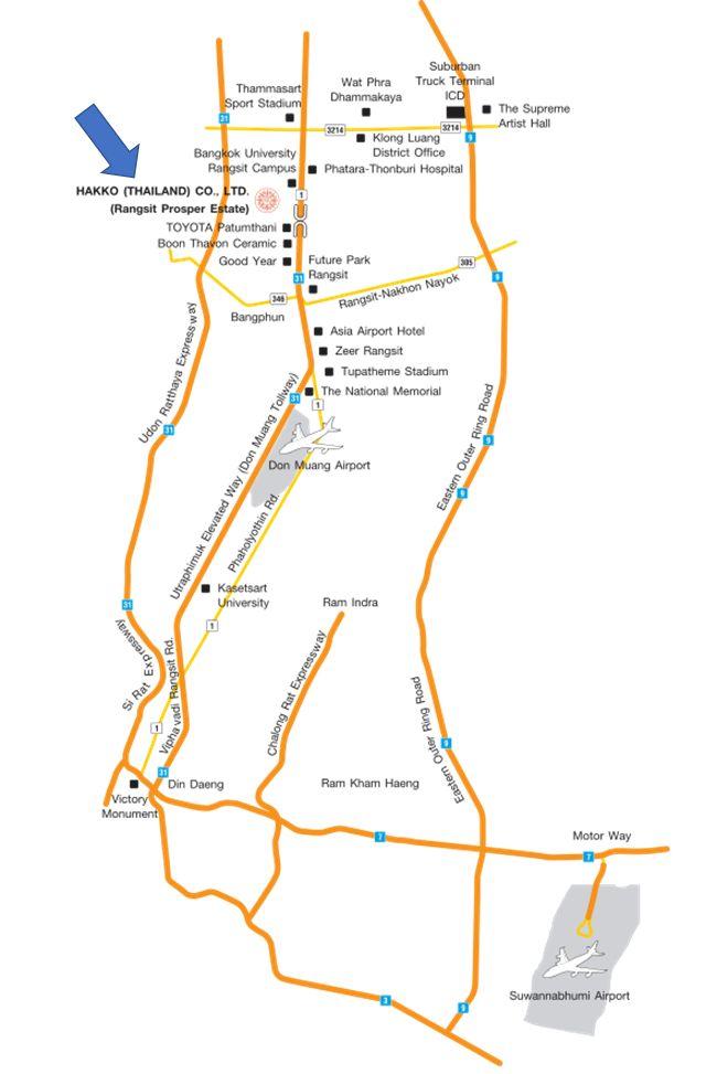 hakko map